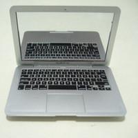 macbook dizüstü beyaz toptan satış-Beyaz ve gümüş Mini Dizüstü Bilgisayarlar için Ayna dizüstü taşınabilir mini ayna kişilik macbook hava 100 adet / grup DHL