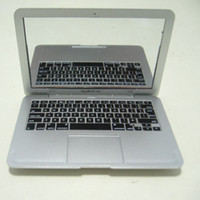 Wholesale macbook laptop white for sale - Group buy White and silver Mini Laptops Mirror laptop portable mini mirror personality for macbook air DHL