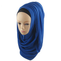 Wholesale Headband Rivets - Wholesale-New Women Chiffon Muslim Long Soft Hijab Rivet Islamic Scarf Wrap Shawl LH12