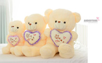 Wholesale Valentine Teddy Bear Low Price - Wholesale 50cm teddy bear plush toys high quality and low price skin holiday gift birthday gift valentine gift free shipping