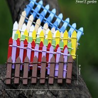 Wholesale Handmade Mini Fence Barrier Wooden Handmade Mini Fence Barrier Wooden Craft Miniature Fairy Garden Branch Palings Showcase