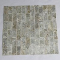 Wholesale pearl white mosaic wall tile for sale - Group buy Natural white color Capiz shell mosaic tile brick pattern background tile furniture face Mother of Pearl tile L004g