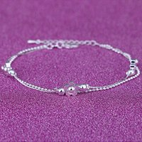 12Pcs / Lot Lovers Romantic Three Plum Bracelets 925 Sterling Silver Link Chain Fashion Jewelry Women Bracelet Nice Gift Бесплатная доставка