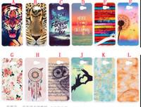 Wholesale Galaxy Owl Case Mini - Bling Owl Tiger TPU + IMD Soft Case For Samsung Galaxy S8 J1 Mini Prime 2017 A3 A5 A7 Dandelion Flower Dream catcher Phone Skin Cover 100pcs