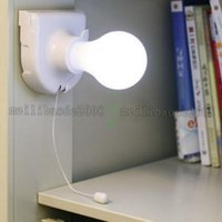 Wholesale cordless light bulbs - 2017 NEW White Lights Cordless Wireless Battery Operated Night Light Portable Bulb Cabinet Closet Lamp free shipping MYY