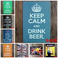 Wholesale Vintage Tin Cans - Keep Calm We Can Do It Metal Poster Wall Decor Bar Home Vintage Craft Gift Art 20x30cm Iron painting Tin Poster(Mixed designs)