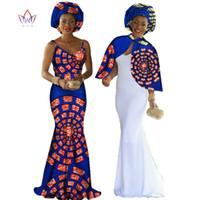 Wholesale Dot Cape - Cape & Braces Dress Set Private Custom Party Dresses Africa Wax Evening Dress Unique Original Cape & Braces Dress Set WY140