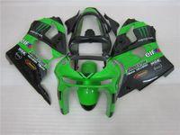 Wholesale New Hot Fairings Kits - 3 gift New Hot ABS motorcycle Fairing kits 100% Fit For Kawasaki Ninja ZX-6R 1998 1999 6r 1998 1999 ZX-6R Green Black