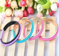 Wholesale Pcs Hair Ties - fashion jewelry Women Cuff bracelets Bangle Hair ties bracelet Hair bands holder Stainless steel bangles 60 pcs free shipping DHL