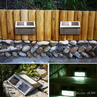 Wholesale Led Stairway Wall Lights - 2 led wall street lights outdoor Garden led lamp Outdoor Solar Power Light Path Wall Light Lamp for Stairway Corridor Path Garden Fench