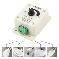 Wholesale Led Sensor Dimmer - Dimmer 12V 8A PIR Sensor LED Strip Light Switch Dimmer Brightness Adjustable Controller Freeshipping Dimmers LED light