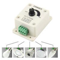 ingrosso dimmer luminosità-Dimmer 12V 8A PIR Sensore LED Strip Light Switch Dimmer Regolatore di luminosità regolabile Freeshipping Dimmer LED luce