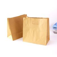 Wholesale Sandwich Bags Wholesale - 100pcs lot-28*28*15cm Blank Kraft Paper Bags Sandwich Bread Food Takeout Bags Wedding Party Favour Gift Bags