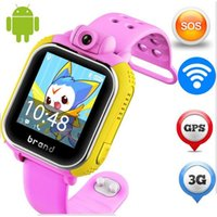 Atacado- original JM13 3G Smart Watch Camera GPS LBS WIFI Kids Relógio de pulso SOS Monitor Tracker Alarme para IOS Android smartwatch pk q90 Q50