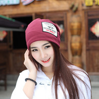 8cf0b1cf12968 Women s winter hat knitted wool beanies female fashion skullies casual  outdoor ski caps thick warm hats for women