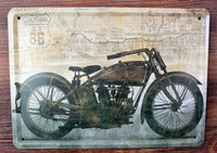 Wholesale Metal Vintage Tin Signs Motorcycle Retro iron Painting Home Decor Wall Art Vintage Plate Plaque Coffee Bar30cmx20cm