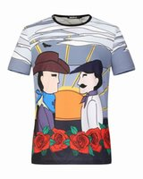 Wholesale Knight Brand Shirts - New Arrival Brand Luxury Cotton Men Slim Fitness Knight Design Print T-shirts Short Sleeve Casual Sexy O neck Shirt Plus Size M-3XL 16301