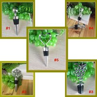 Wholesale Snowflake Wine - Wine Stoppers Champagne Bottle Stopper Metal Ball Novelty Christmas Snowflake Bar Tools Supplies Love Heart Wine Bottle Stoppers JU076