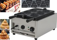 220V 1200W CE Funny waffle maker stainless steel Korean style fat burning waffle commercial with 6 pcs waffle moulds 220v 110v LLFA