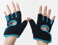 Wholesale Ms Fitness - 5PCS LOT Unisex Ms male general outdoor cycling mountain antiskid sports gloves Dumbbell fitness training warm palm