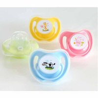 Wholesale Cute Baby Feeding - Baby Pacifiers clip Cartoon Cute Food Grade Silicion Toddler Round Nipples Feeding Safe Infants Girl Boy Gift