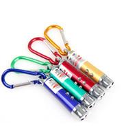 led-taschenlampen großhandel-100% neues und hochwertiges 3 in 1 LED-Licht + Laserpointer + UV-LED-Taschenlampe Keychain geben Verschiffen frei