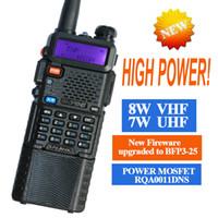 Wholesale Handheld Vhf Ham Radio - two way radio walkie talkie UV-8HX,baofeng Pofung uv-5r triple power version,1w 4w 8watts VHF UHF dual band ham radio