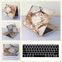 Wholesale Hard Case Cover Keyboard Skin - 2in1 Gold Marble Hard Case Cover + Keyboard Skin for Macbook Air Pro 11 12 13 15 Laptop Bag