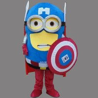 <b>Superman Yellow</b> Minions Adult Size Mascot Costume Fancy Birthday Party Dress Costumi di carnevale di Halloween con l'alta qualità