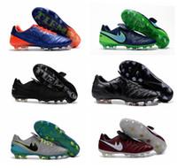 Wholesale Cheap Low Heel Boots - 2016 New Soccer Shoes Tiempo Legend VI FG Cheap Sale Football Boots Soccer Cleats Botas De Futbol Chuteira Futebol White Orange Volt Black