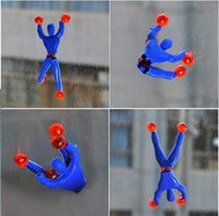 Wholesale Spiderman Party Bag Wholesalers - Wholesale-100pc Crawler man toy funny sticky climbing roll spiderman pinata toy sticky spiderman toy party favor in retail opp bag