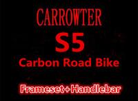 Wholesale carbon road bike frameset sale - Frameset+Handlebar Packaged for Sale !!! With BBright carbon road bike frames S5 T1000 3K UD S5 road bicycle carbon Handlebar free shipping