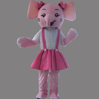 Wholesale Adult Pink Elephant Costume - Pink Elephant Girl Adult Size Mascot Costume Fancy Birthday Party Dress Halloween Carnivals Costumes With High Quality