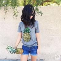Wholesale Wholesale Oversized Shirts - 2017 Women's t-shirt New ZSIIBO Brand Oversized Casual Summer Designer Grey Round Neck Short Sleeve Print Plus Size women's T-Shirts NV31-F