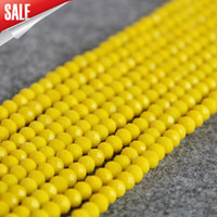 Nuevo NecklaceBracelet Accessories 4X6mm Faceted Yellow AB + cristal de colores Crystal stones Jasper beads Jade loose 15inch Jewelry