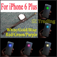 Para o iPhone 6 Plus Glowing Logo DIY luz luminescente Night Glow Cool Light Shine Voltar Logo para iPhone6 ​​Plus LED Logo Frete Grátis