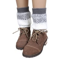 Wholesale Jacquard Knitted Legging - Wholesale- Hot Selling New Arrival Women Jacquard Knitted Leg Warmers Socks Boot Cover High Quality Chaussette Nice Gift