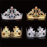 königin party liefert großhandel-Cosplay König Königin Krone Fashion Party Hüte Gold Silber 2 Farben Für Jungen Mädchen Dress Up Party Halloween Supplies