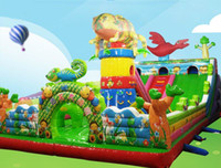 Wholesale Inflatable Slides For Kids - Inflatable Castle Children Castle Hot Children Small Jump Bed and Safe Inflatable bouncy castle bounce house with slide for kids