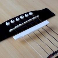 plastique de pont achat en gros de-Vente en gros JEYL Hot New Plastics Bridge selle et écrou pour guitare acoustique 6 cordes Ivoire