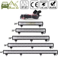 "Wholesale 36 Led Offroad Light Bar - XuanBa 12"" 72W 28"" 180W LED Light Bar For 4x4 Off Road Truck SUV ATV Boat Car Tractor 4WD 12V 24V Combo Beam Led Work OffRoad Bar Lights"