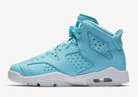 Wholesale Women Trainers Sale - women retro 6 women shoes 6s VI university blue white for girl sneakers trainers free shipping sale online good quality