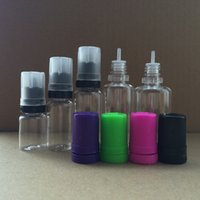 Wholesale Press Caps - Tamper Evident Seal and Child Proof Empty Bottle 5ml 10ml 15ml 20ml 30ml E Liquid Plastic Dropper Bottles with Newest PRESS & TURN Caps