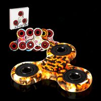 Wholesale Painting Finger - 2017 New EDC Camo Fidget Spinner decompression anxiety toys Plating color Painting Hand Spinner Finger Tip Rotation anxiety Hand spinner
