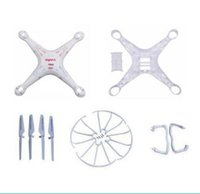 Wholesale Protect Helicopter - syma x5c x5 X5A 2.4G RC Helicopter Quadcopter Drone spare parts kits body+blade+landing skid+ Blade Protecting Frame