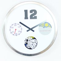 Wholesale Material Clock - Vintage Style Brief white 16-inch gear the seconds clock ABS and metal material Gear wall clock bedroom living room
