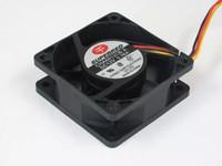 ventiladores de enfriamiento 12v cables al por mayor-SUMINISTRADO CHA6012CB-A DC 12V 0.16A 3 hilos de 3 pines conector 110mm 60x60x25mm Server Cooling Square fan