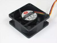 soğutma fanı 12v teller toptan satış-SUPERRED CHA6012CB-A DC 12 V 0.16A 3-wire 3-pin bağlayıcı 110mm 60x60x25mm Sunucu Soğutma Kare fan