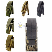 Wholesale Pistol Clips - Multifunction Survival Gear Tactical Pouches Molle Pouches , Single Surplus Cartridge Clip Pouch Bag Pistol Magazine Pouch Mag