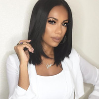 Wholesale Brazilian Hair Human Hair Bob Wigs Natural Color Inches Short Straight Lace Front Wigs Brazilian Full Lace Wigs